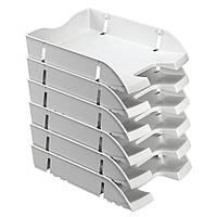 Лоток для бумаг горизонтальный Herlitz Space R-PET Solid серый (11247103), фото 1