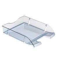 Лоток для бумаг горизонтальный Herlitz Space R-PET Transparent серый полупрозрачный (11247228), фото 1