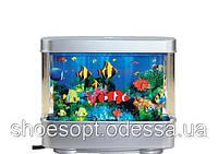 Аквариум ночник светильник с рыбками светодиодный 20х16,5см, фото 1