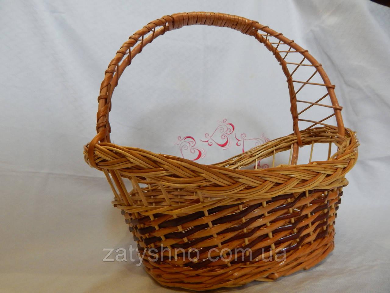 Подарункова корзина плетена