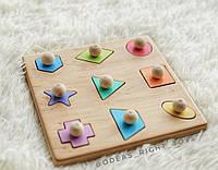 Деревянная развивающая игрушка Сортер Геометрия для детей от 10 мес