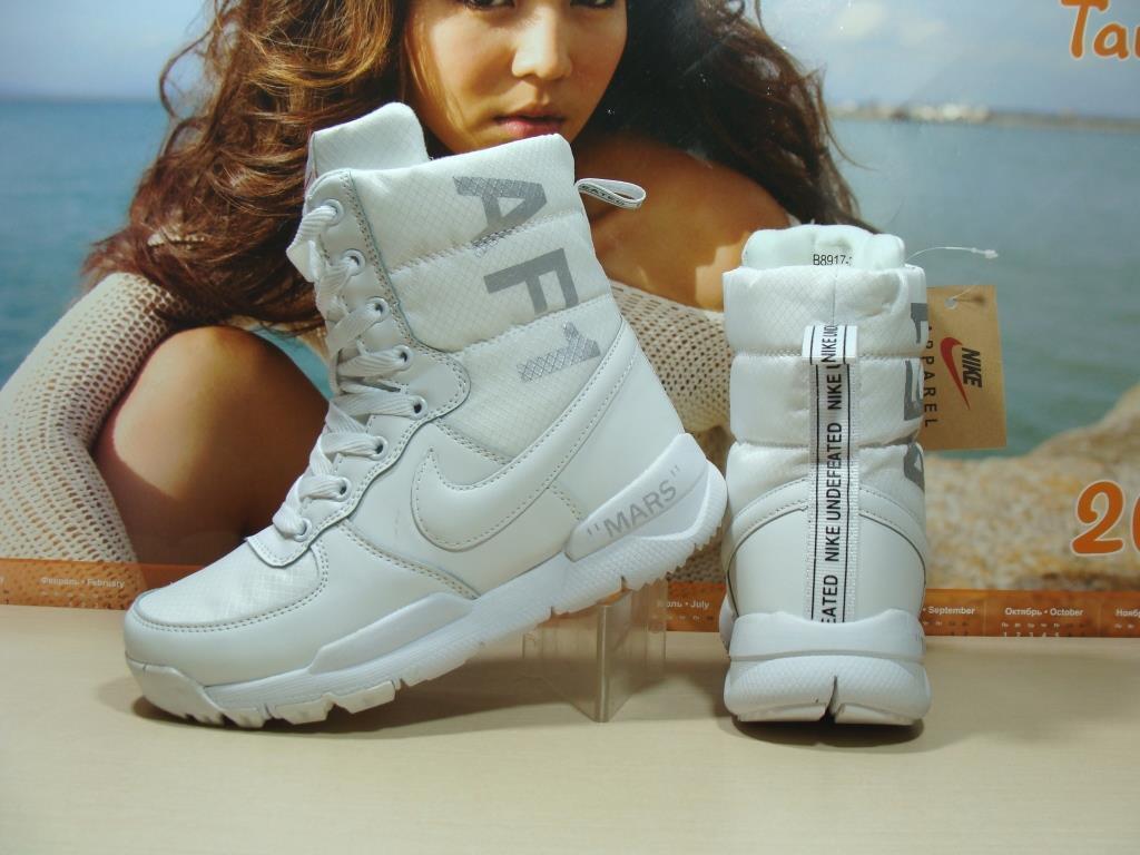 d5542751 Женские Зимние Кроссовки Nike AF1 Mars (реплика) Белые 39 Р. — в ...