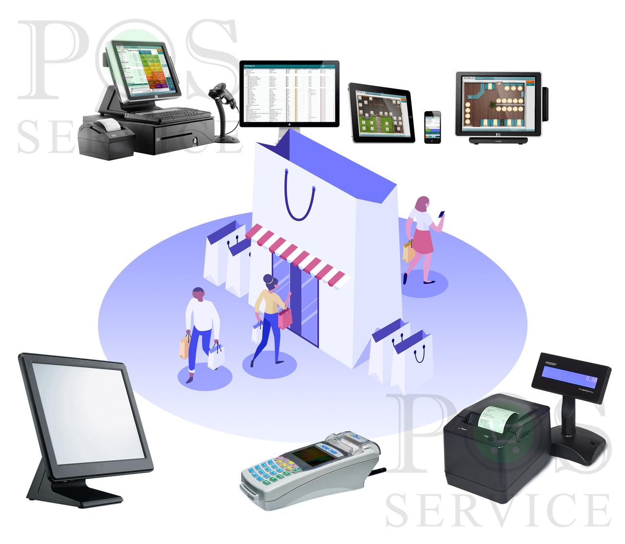 Комплект техніки для бутика магазина одягу