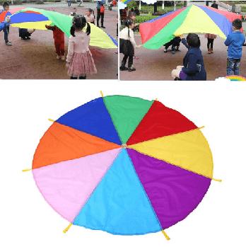 Игровой Парашют разноцветный с ручками 3м