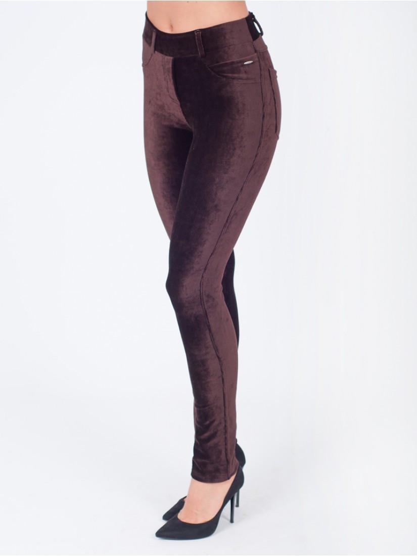 c4ad4094 Модные женские лосины из вельвета цвет шоколад - Оптово-розничный магазин  одежды