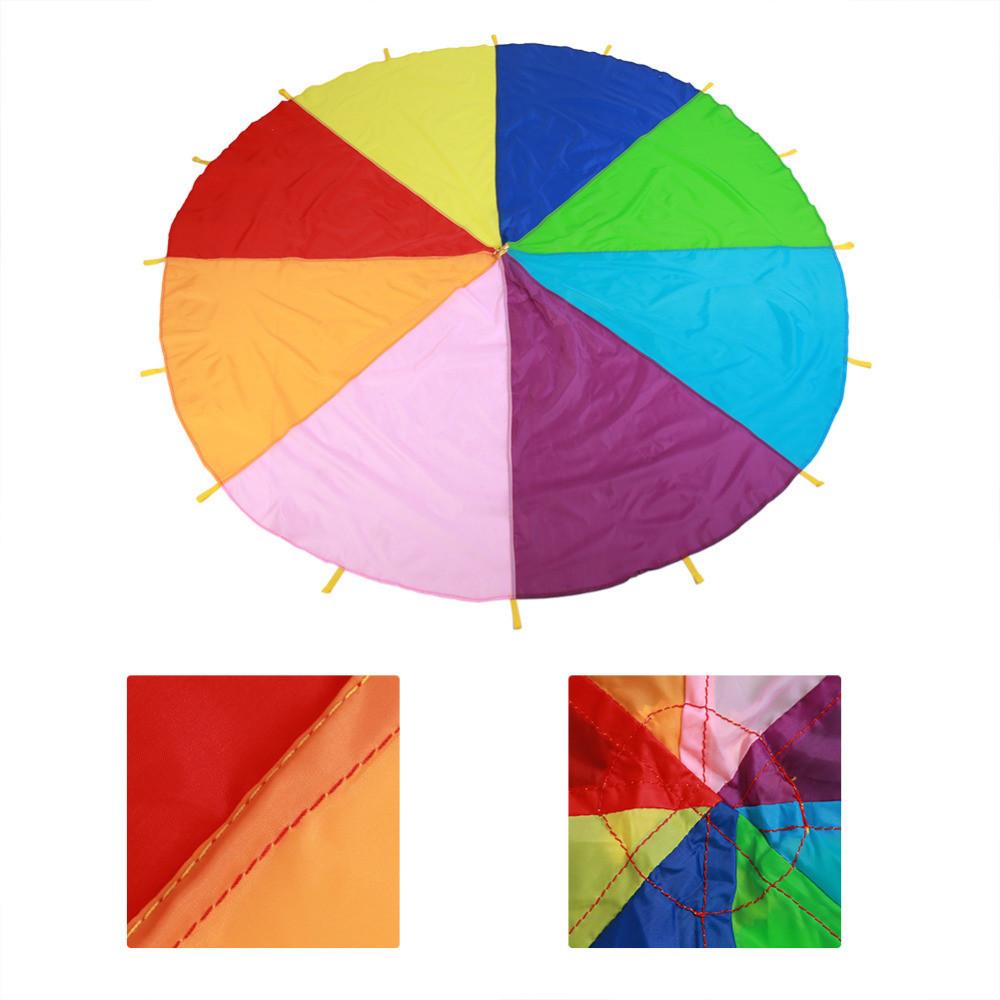 Игровой Парашют разноцветный с 16 ручками 3м