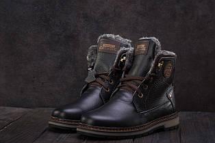 Ботинки подростковые Zangak 137 черные (натуральная кожа, зима)