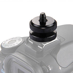 Металлический переходник адаптер на горячий башмак фотокамеры с винтом 1/4 дюйма