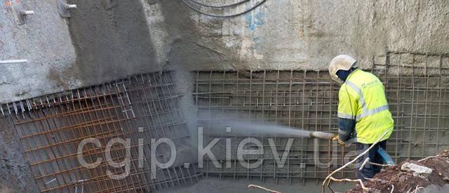 Ремонт бетона методом торкетирования