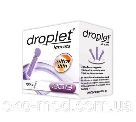 Ланцеты для глюкометра универсальные Droplet №100