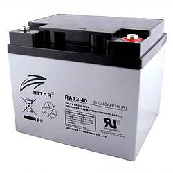 Аккумуляторная батарея AGM RITAR RA12-40, Gray Case, 12V 40.0Ah ( 198 x166 x 169 ) Q1