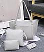 Сумка женская большая набор сумка через плечо Sharon  Серый, фото 2
