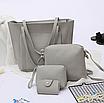 Сумка женская большая набор сумка через плечо Sharon  Серый, фото 3