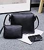 Сумка женская большая набор сумка через плечо Sharon  Серый, фото 6