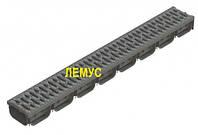 Комплект: Лоток пластиковый водоотводный  H72 с пластиковой решеткой
