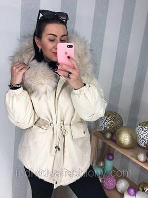 Куртка с капюшоном на меху