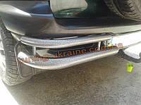 Защита заднего бампера углы двойные D60-42 молотковые на Chevrolet Niva Bertone 2010+