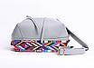 Сумка женская кожаная кросс боди через плечо Suzy в наборе кошелек Черный, фото 4