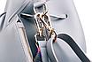 Сумка женская кожаная кросс боди через плечо Suzy в наборе кошелек Черный, фото 5