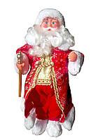 Музыкальная новогодняя кукла Дед мороз 50 см, цвет красный