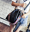 Сумка женская через плечо в наборе кошелек Suzy Черный, фото 2