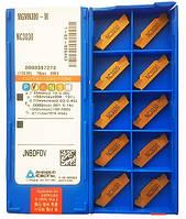 Токарные пластины отрезные MGMN300-M NC3030 (толщина пластины 3 мм, длина пластины 21 мм), фирма Korloy (Корея