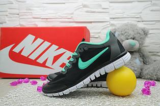Кроссовки Classik G7385-7 (Nike AirMax) (лето, женские, сетка плотная, черный)