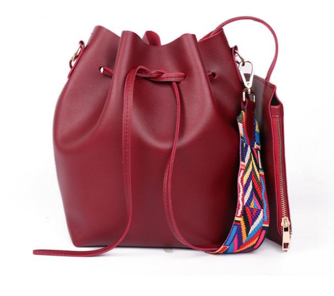 Сумка женская через плечо в наборе кошелек Suzy Красный