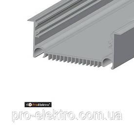"""Серия """"Premium"""" ЛСВ 70 Профиль алюминиевый, анодированный, цвет - серебро."""