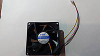 Вентилятор(кулер)HXS 8025 Merlion 8025 DC sleeve fan 3pin 80x80x25mm FW-12V=DC, фото 1