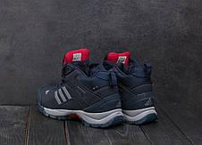 Кроссовки А1881-4 Adidas Clima Proof (зима, мужские, кожа прессованая, синий), фото 3