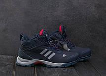 Кроссовки А1881-4 Adidas Clima Proof (зима, мужские, кожа прессованая, синий), фото 2