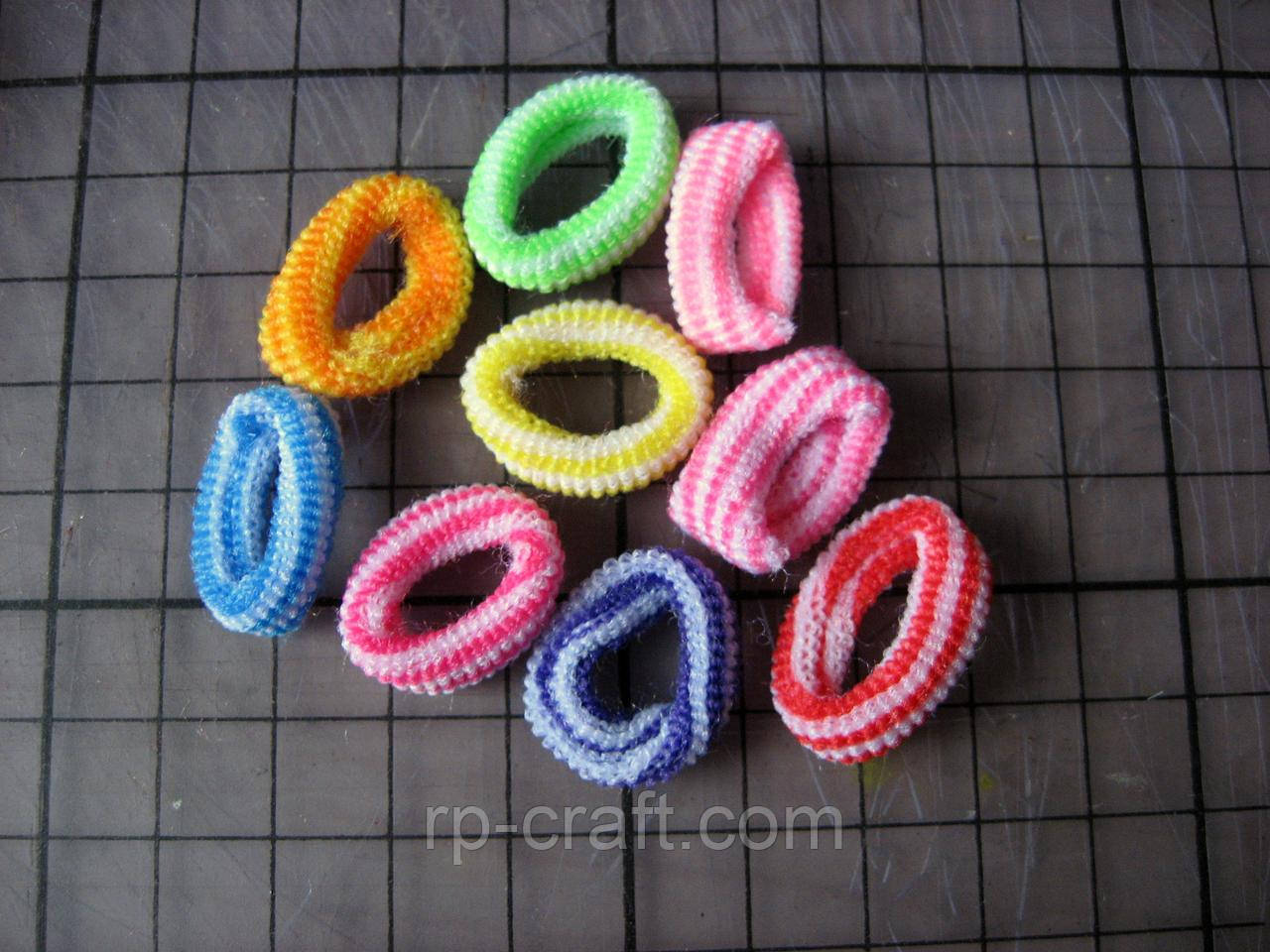 Набір резинок для волосся, діаметр 2 см, 9 штук, №4