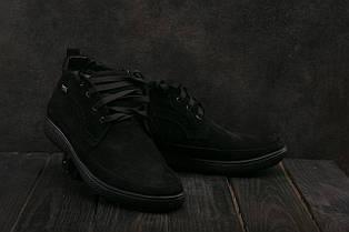 Ботинки мужские Vankristi 928 черные (замша, зима)