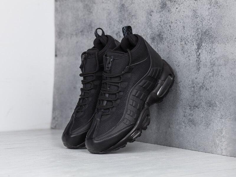 84f90e46 Зимние кроссовки Nike Air Max 95 Sneakerboot Black Waterproof купить ...