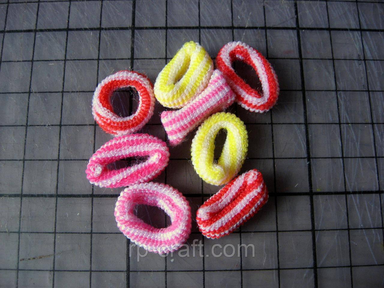 Набір резинок для волосся, діаметр 2 см, 8 штук, №6