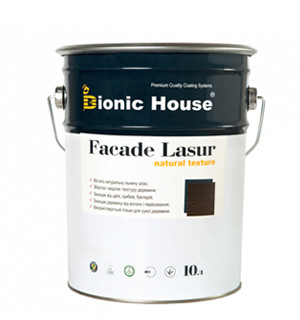 Лессирующий антисептик для дерева на основе льняного масла FASADE LASUR / Фасад Лазурь (уп. 10 л)
