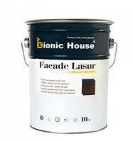 Лессирующий антисептик для наружных работ на основе льняного масла FASADE LASUR/Фасад Лазурь (уп.10л), фото 1
