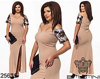 Красивое длинное вечернее платье фабрика Украина Balani большой размер 48-54