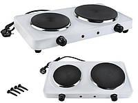 Електроплита двокамфорна настільна, плитка електрична кухонна двокамфорна, настільна елетрична плита