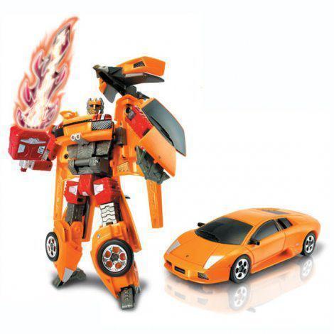 Машинка-трансформер Robot Car Lamborghini, машинка на пульте управления, Акция