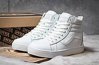 Зимние кроссовки на меху Vans Old School Winter (реплика), белые (30722)