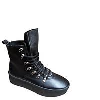 Зимние женские ботинки на танкетке Marini