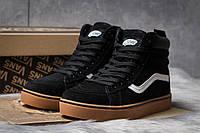 Зимние кроссовки на меху Vans Old School Winter (реплика), черные (30724)