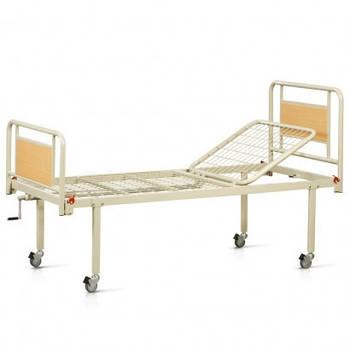 Медичне ліжко механічне 2-х секційне МАТРАЦ В ПОДАРУНОК