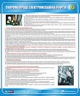Стенд. Охорона праці електромеханіка ліфтів. 0,6х0,5. Пластик