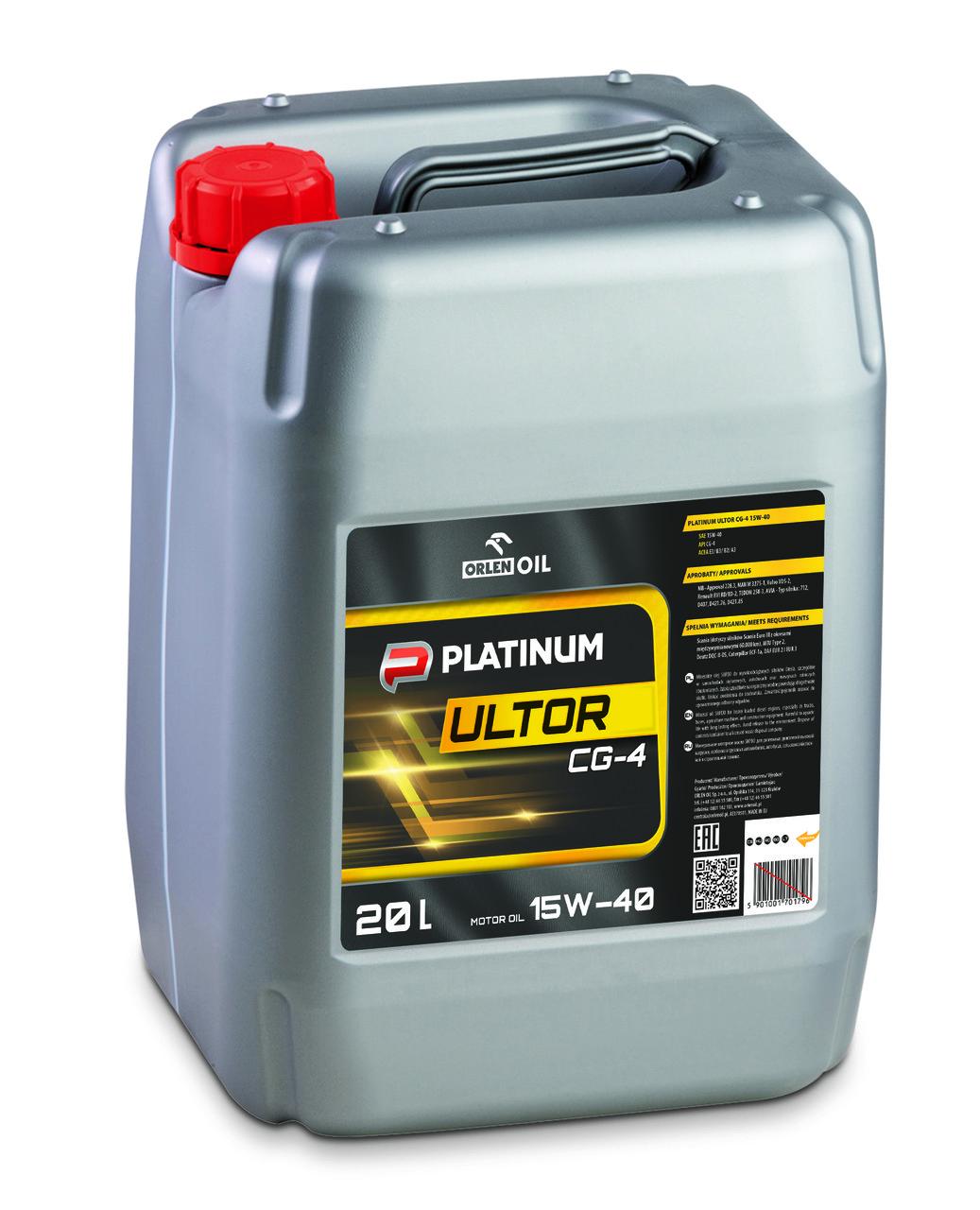 ORLEN Platinum Ultor CG-4 15W-40 20л
