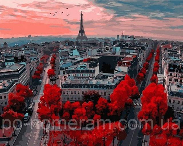 Картина краски Парижа