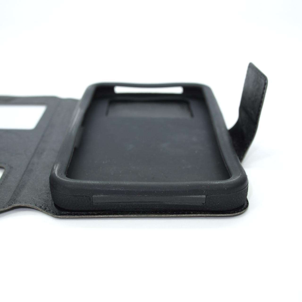 Чехлы для других смартфонов Universal Book Window 5.2-5.5 black Для телефона Черный