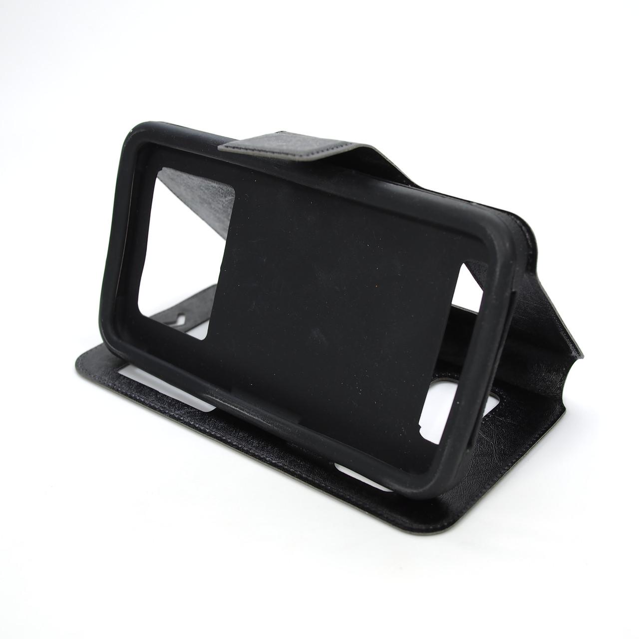 Чехол Universal Book Window 5.2-5.5 black Для телефона Черный Goospery